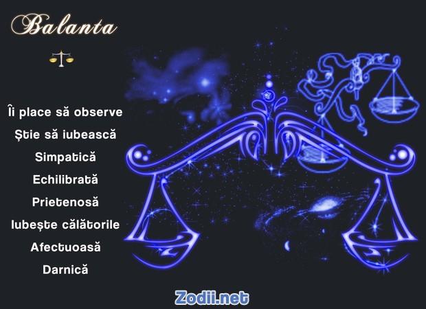 Calitatile zodiei Balanta